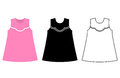 Baby dress icon. Vector flat style illustration.