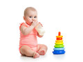 Baby drinking milk from bottle girl Royalty Free Stock Photo