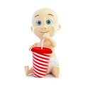 Baby drinking soda Stock Photography