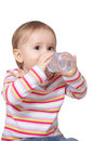 Baby drinking water Stock Photo