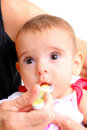 Baby Eating Stock Image