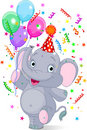 Baby elephant birthday Royalty Free Stock Image