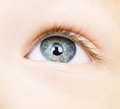 Baby eye Royalty Free Stock Photo