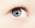 Baby eye close up of Stock Images