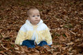 Baby  in fall leaves Royalty Free Stock Photos