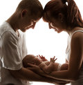 Baby Family Newborn Parents Kid New Born Mother Father Child Royalty Free Stock Photo