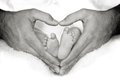 Baby Feet in Heart Royalty Free Stock Photo