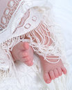 Baby Feet and Lace Royalty Free Stock Photo