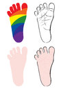 Baby feet vector illustrations Royalty Free Stock Images