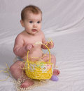 Baby first Easter Royalty Free Stock Photo