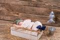 Baby fisherman is sleeping. Royalty Free Stock Photo