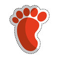 Baby footprint isolated icon
