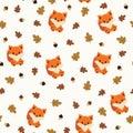 Baby Fox Seamless Wallpaper