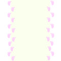Baby frame with baby footprints pink