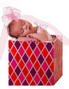Baby in a gift box Royalty Free Stock Photo
