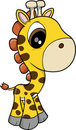 Baby Giraffe Vector Royalty Free Stock Image