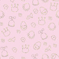 Baby girl background little princess elements seamless pattern wallpaper Royalty Free Stock Photography