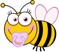 Baby girl bee cartoon character happy Stock Photos