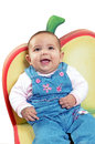 Baby girl with big smile Stock Images