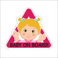 Baby girl on board vector illustration baby on board baby on board sign Royalty Free Stock Photos