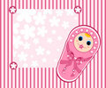 Baby girl card 2. Royalty Free Stock Photo
