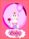 Baby girl card, vector Stock Photos
