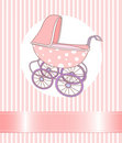 Baby Girl Carriage Stock Photos