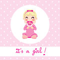Baby Girl Design Stock Image