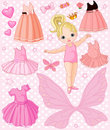 Baby Girl with different  dresses Royalty Free Stock Photos