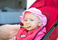 Baby girl eating Royalty Free Stock Photo