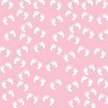 Baby Girl Footprints Seamless Pattern Royalty Free Stock Photo
