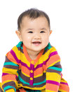 Baby girl giggle asian cute gril portrait Stock Image