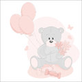Baby girl greeting card Royalty Free Stock Photo