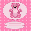 Baby girl greeting card vector background this is file of eps format Royalty Free Stock Images