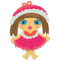 Baby girl icon. cartoon child illustration Royalty Free Stock Images