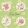 Baby girl items set Stock Images