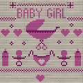 Baby girl knitted background this is file of eps format Royalty Free Stock Photos
