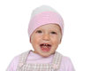 Baby girl laughing Stock Images