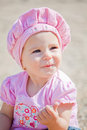 Baby girl outdoor Stock Image