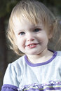 Baby girl in a park Royalty Free Stock Photography