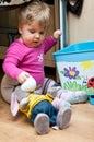Baby Girl Playing Stock Photo