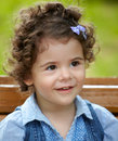 Baby girl portrait outdoor in spring Stock Images