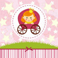 Baby girl princess vector illustration Royalty Free Stock Photography
