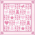 Baby Girl Quilt Stock Photo