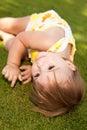 Baby girl resting Royalty Free Stock Photos