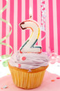 Baby girl's birthday Stock Photography