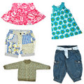 Baby girl's clothes Stock Image
