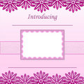 Baby Girl scrapbook page - Birth Announcement - 1 Royalty Free Stock Images