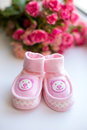 Baby girl shoes Stock Image