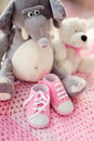 Baby girl shoes new born Royalty Free Stock Images